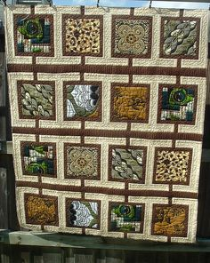 """African print quilt. This pattern is a great way to showcase some really nice large-print fabrics."" Agreed!"