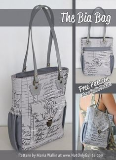 The Bia bag pattern features such a great size bag, being not too big but still have room for all your need and it has a ton of pockets, inside and out.