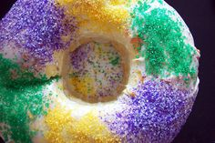 Not So Fat Tuesday -- Healthier Mardi Gras Recipes {Vegan King Cake in photo}