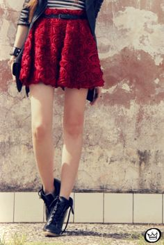 I like the rock yet still very girly style of this. Plus - the skirt is amazing!