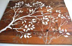 Painting on wood planks.