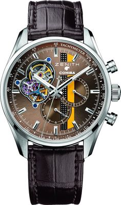 The Watch Quote: The Zenith El Primero Chronomaster 1969 Cohiba Edition watch - Zenith celebrates the anniversary of a cuban legend: Cohiba Dream Watches, Fine Watches, Sport Watches, Amazing Watches, Beautiful Watches, Cool Watches, Stylish Watches, Luxury Watches For Men, Hand Watch