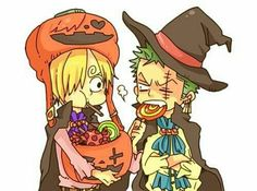 Happy Halloween! Sanji and Zoro _One Piece