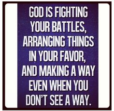 God Working All Things For My Good.......