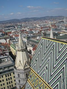 The view from atop 'Steffi'--St. Stephen's Cathedral in Vienna Passport Stamps, Vienna, Places Ive Been, Cathedral, Graz Austria, Louvre, Building, Travel, Viajes