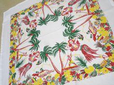 Vintage Hawaiian tablecloth