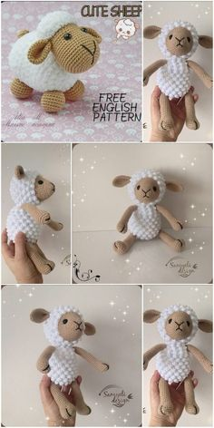 Amigurumi related to each other, we continue to share with each other. In this article amigurumi sheep free crochet pattern is waiting for you. Crochet Panda, Crochet Sheep, Crochet Amigurumi Free Patterns, Easter Crochet, Crochet Patterns Amigurumi, Crochet Dolls, Free Crochet, Beginner Crochet Tutorial, Crochet Basics