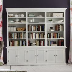 Beachcrest Home Amityville Library Bookcase Kitchen Furniture, Home Furniture, Kitchen Hutch, Coastal Furniture, Painted Furniture, Furniture Ideas, White Hutch, Open Shelving Units, Shaker Style Doors