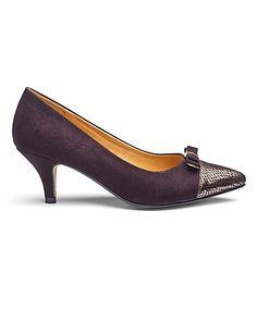 Lorraine Kelly Court Shoes E Fit   Fifty Plus