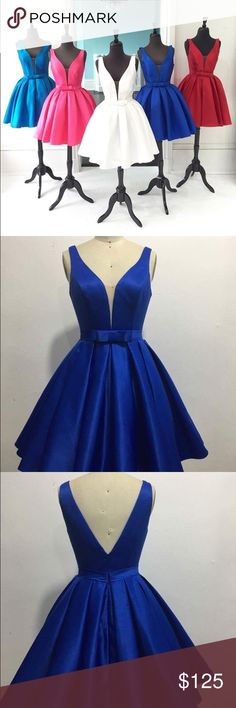 24HR Royal Blue Cocktail Dress Short Prom NWT, limited sizes! Selling out fast! I also habe this style in emerald and coral red available in 1 week. EVERYTHING IS CROSSPOSTED!!! NOT SHERRI $99+priority shipping onpaypal Sherri Hill Dresses Prom