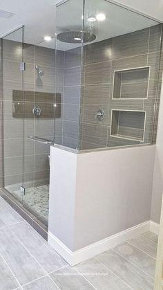 Classy and Modern Bathroom Shower Tile Ideas. 38 Classy and Modern Bathroom Shower Tile Ideas. 48 Classy and Modern Bathroom Shower Tile Ideas Modern Bathroom Mirrors, Bathroom Mirror Design, Modern Bathroom Design, Bathroom Interior Design, Bathroom Designs, Bath Design, Bathroom Layout, Bathroom Colors, White Bathroom