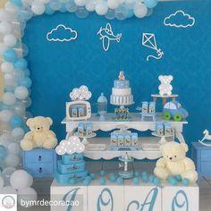 "86 Likes, 3 Comments - Deisiane Teles (@horadeapagaravelinha) on Instagram: ""Chá de Bebê super cute por @bymrdecoracao #festabrinquedos #chadebebe #chadebebemenino #babyshower…"""