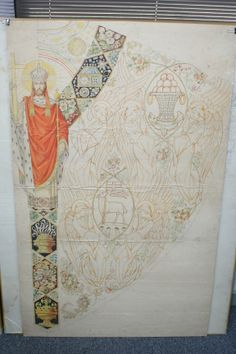 Original sketch from Slabbinck. This Chasuble is available today.
