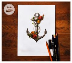 anchor color draw on Behance