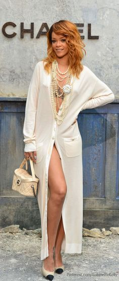 Rihanna Street Style Chanel Haute Couture F/W Fashion Show