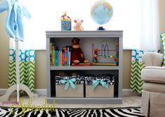Painted Laminate Nursery Bookshelf | Positively Splendid {Crafts, Sewing, Recipes and Home Decor}