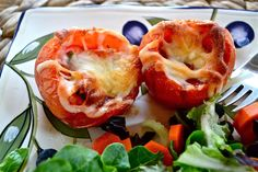 Pizza Tomato Bowls | Because pizza is amazing..but not healthy.