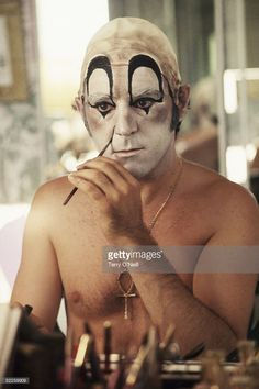 #Sixties | Anthony Newley painting his face as a clown in Beverly Hills, 1968