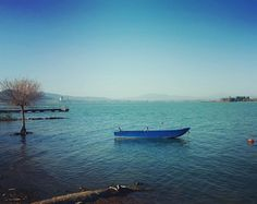 Trasimeno lake in the evening, San Feliciano August 2016