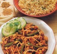 curry met cashewnoten - vegetarisch
