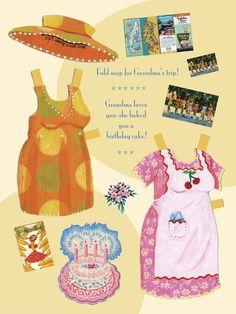 Grandma Annie Paper Dolls by jenwojtowicz on Etsy