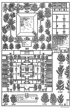 """jabuke: """"  Part of the plan of a house and its offices, figured in a tomb at Tell-el-Amarna """""""