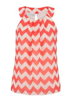chevron stripe chiffon tank Style and pattern, not so much the color.