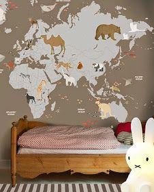Little hands wallpaper mural: World Map