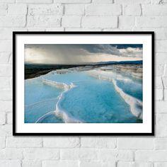 Storm over the travertine terraces at Pamukkale, Turkey print Pamukkale, Landscape Prints, Storm Clouds, Terraces, Travertine, Photographic Prints, Fine Art Photography, Fine Art Prints, Beautiful Places