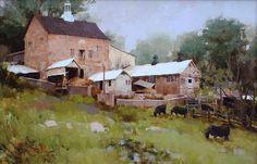 Do you love to collect plein air paintings? Browse art created en plein air here, as seen in Plein Air magazine or featured in Plein Air Today. Impressionist Landscape, Landscape Art, Landscape Paintings, Landscapes, Sketch Painting, Artist Painting, Great Paintings, Barn Paintings, Acrylic Painting Inspiration
