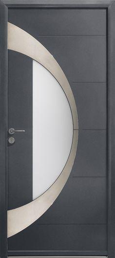 Porte Reynaers CS 86 avec panneau recouvrant modèle Adeco Belido - pose d une porte d entree