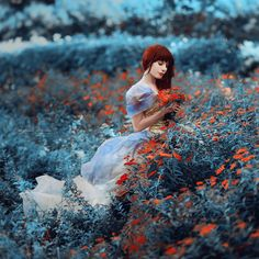 +++ by Irina Dzhul, via 500px-blue plants/