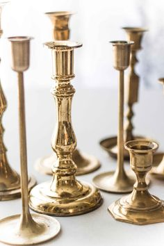 Brass Candlesticks - Large