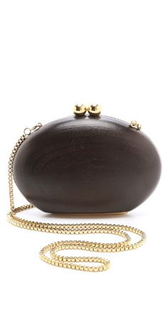 ONE by Malini Murjani Blondie Wood Clutch | SHOPBOP