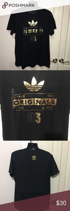 """3e2bae087a246 Adidas Original True To The Game XXL Black Gold ITEM  Adidas Originals  """"True To"""
