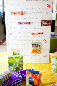 Candy Bar Birthday Poster