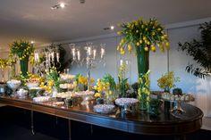 Casamento Lilian e Hadi - decoração mesa de doces da Disegno Ambientes