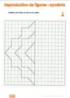 cm1: Exercices la SYMETRIE AXIALE figures symétriques ...