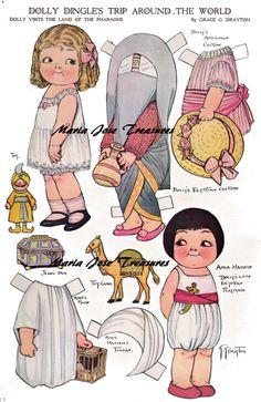 Dolly Dingle in Egypt Paper Dolls - Digital Download