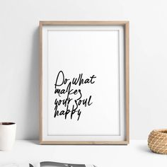 Quotes about Happiness : Printable Happiness Quote Art Minimalist Nordic Art Poster | This printable happ
