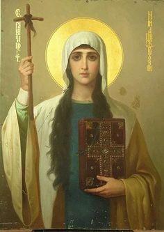 holy Equal-to-the-Apostles Nina, Нина Religious Icons, Religious Art, Catherine Of Alexandria, Friend Of God, Religion, Russian Icons, Medieval Life, Art Icon, Catholic Saints
