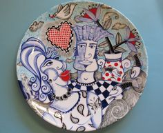 """Love is a Splendid Thing ! "" Original story plate design by Tiffany Wallace Ceramics SA 2016"