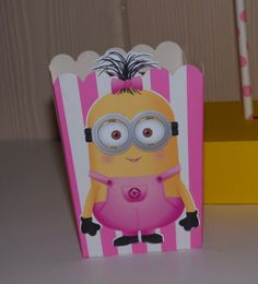 Girl Minion Birthday Party Centerpieces Favor by PishPoshPartique