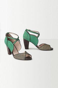 Mingling Teal Heels - anthropologie.eu If ever I learn to walk glamorously in heels!?