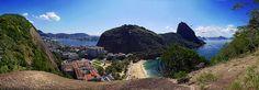 Pão de Açúcar e Urca (ou seria Urca e Pão de Açúcar? :-)) - Morro da Babilônia - Praia Vermelha - Enseada de Botafogo - Rio de Janeiro - Brasil - Brazil