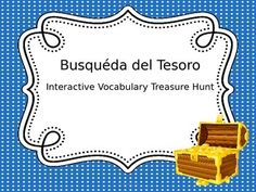 Students use clues written in Spanish to find a treasure in this virtual treasure hunt - love this!