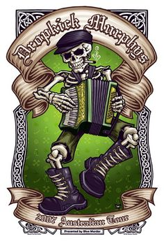☮ American Hippie Rock Punk Music Poster ~ The Dropkick Murphys Concert Rock Posters, Band Posters, Music Love, Art Music, Rock Music, Heavy Metal, Irish Punk, Arte Punk, Dropkick Murphys