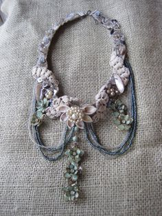 Mermaid Necklace  with Vintage Jewelry Seashells by AnikaDesigns, $95.00