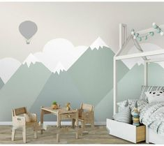 to home decor posts Hand Painted Green Geometric Nursery Children Wallpaper Wall Mural, Geometric Mountain Kid Children Room Wall Mural Wall Decor Hand bemalt grün geometrische Kinderzimmer Kinder Tapete Wand Kids Wall Murals, Murals For Kids, Mural Wall, Nursery Wall Murals, Playroom Mural, Childrens Wall Murals, Wall Art, Nursery Wallpaper, Kids Wallpaper