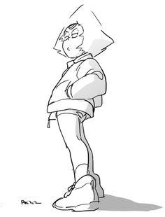 Steven Universe Drawing, Steven Universe Memes, Universe Art, Cartoon Sketches, Drawing Sketches, Drawings, Fantasy Character Design, Character Drawing, Steven Universe Stevonnie
